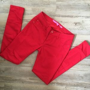 Candy Red Skinny Jeans